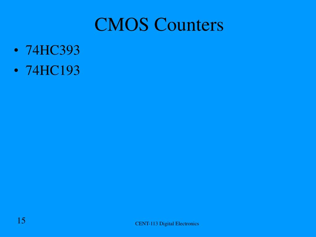 CMOS Counters