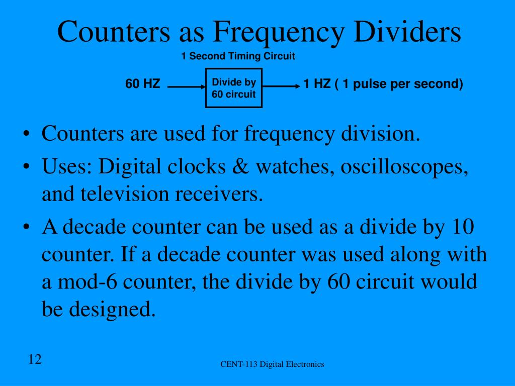 Counters as Frequency Dividers