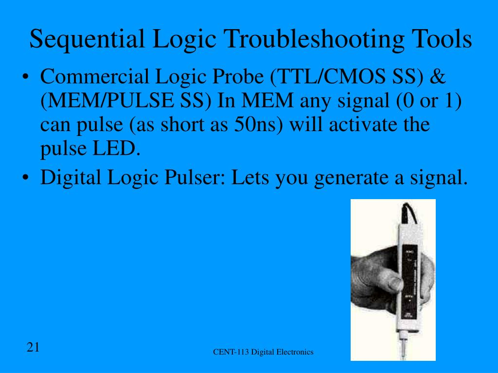 Sequential Logic Troubleshooting Tools
