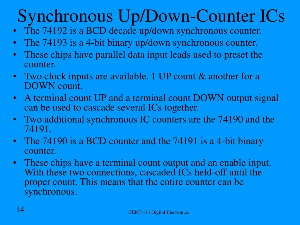 Synchronous Up/Down-Counter ICs