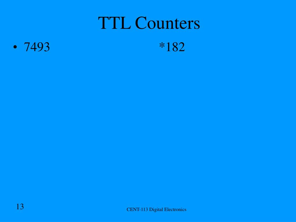 TTL Counters