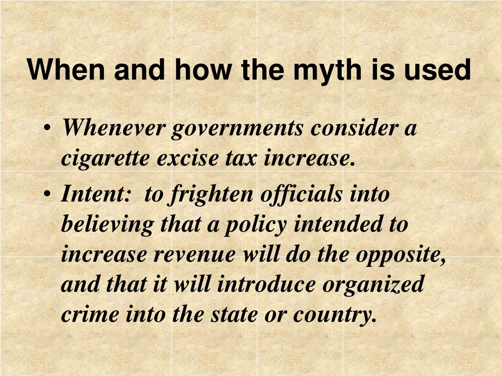 When and how the myth is used