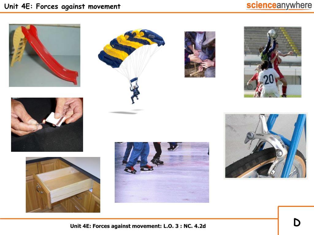 Unit 4E: Forces against movement