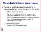 florida freight system improvements