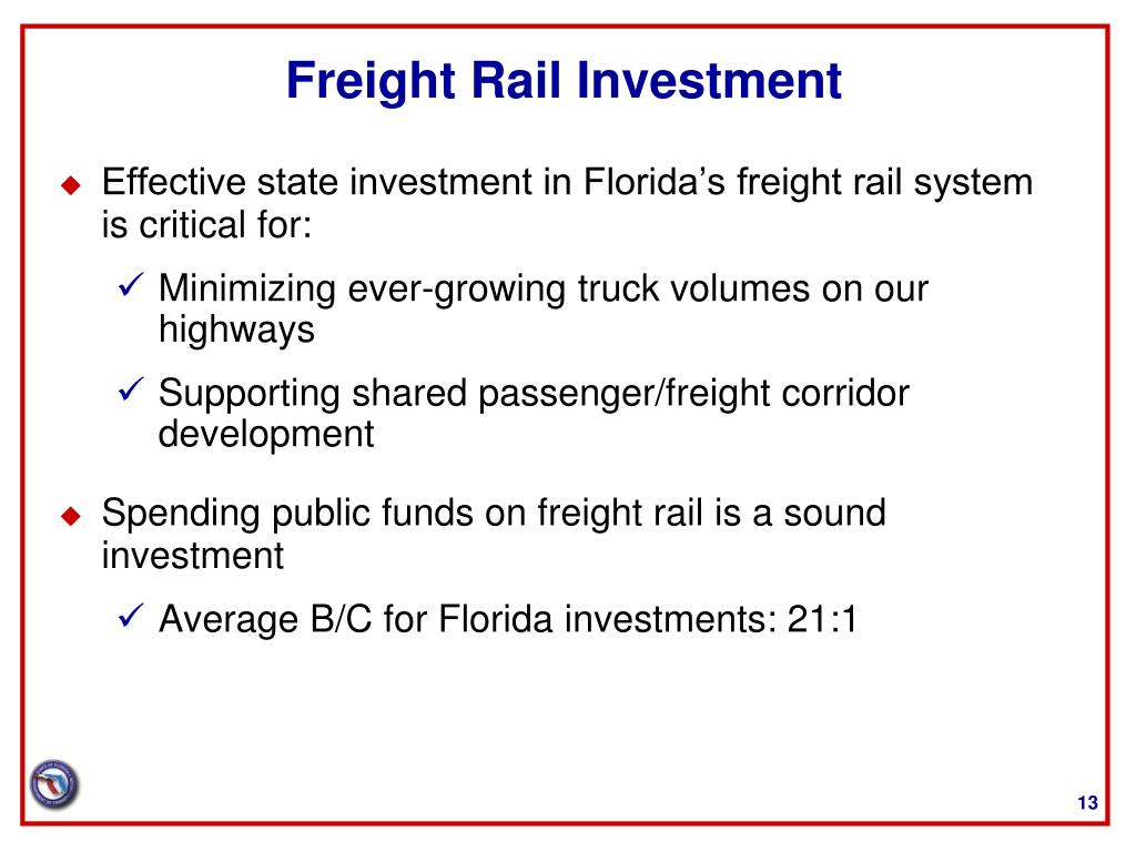 Freight Rail Investment