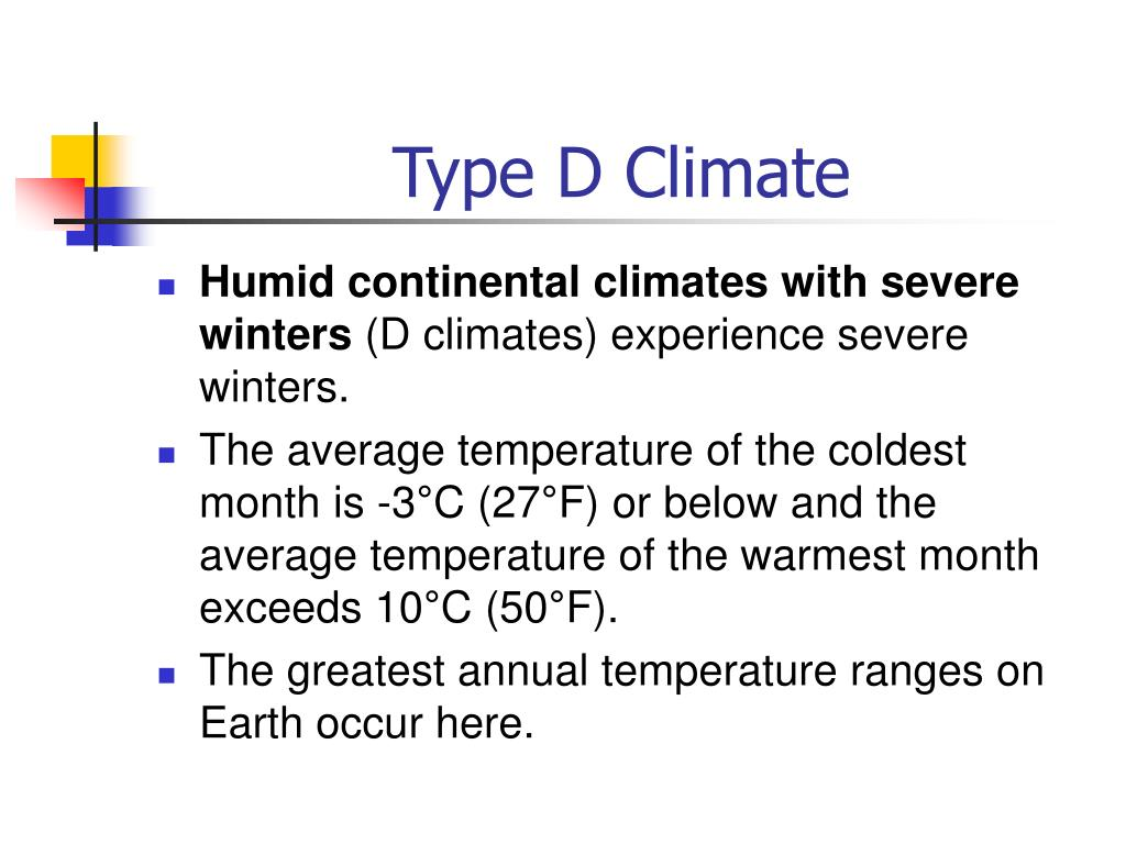 Type D Climate