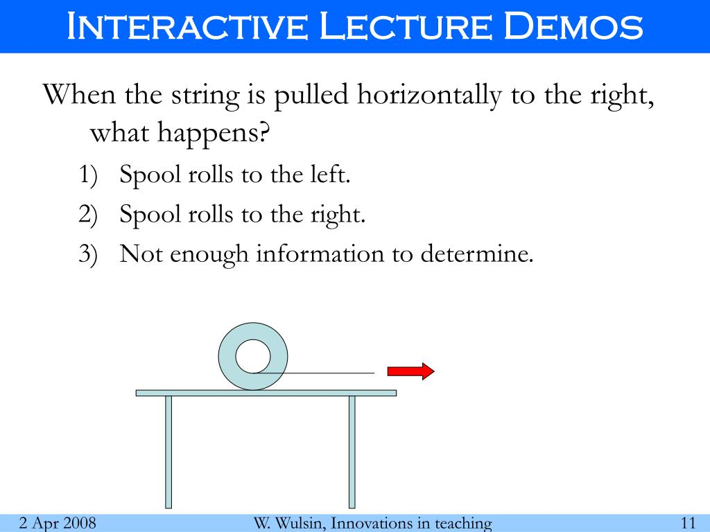 Interactive Lecture Demos