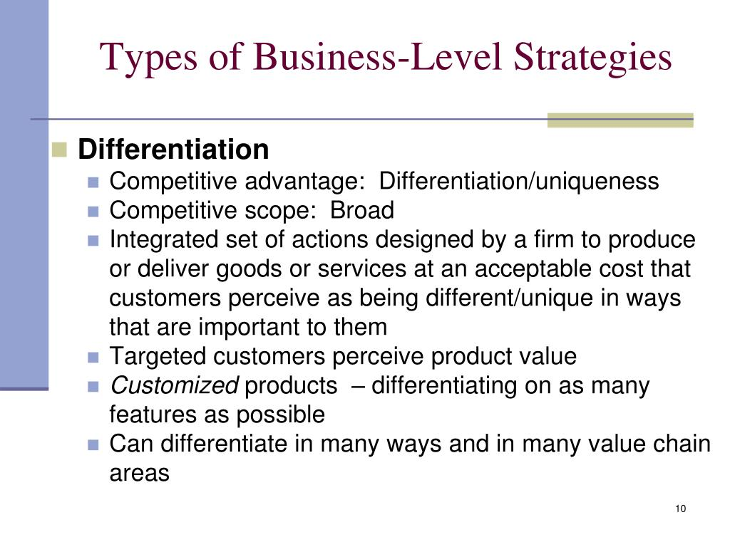 types of business strategies In this adaptation from the new book, your strategy needs a strategy (hbr press, 2015), bcg strategy experts make sense of the all the different, and competing, approaches to strategy: which.