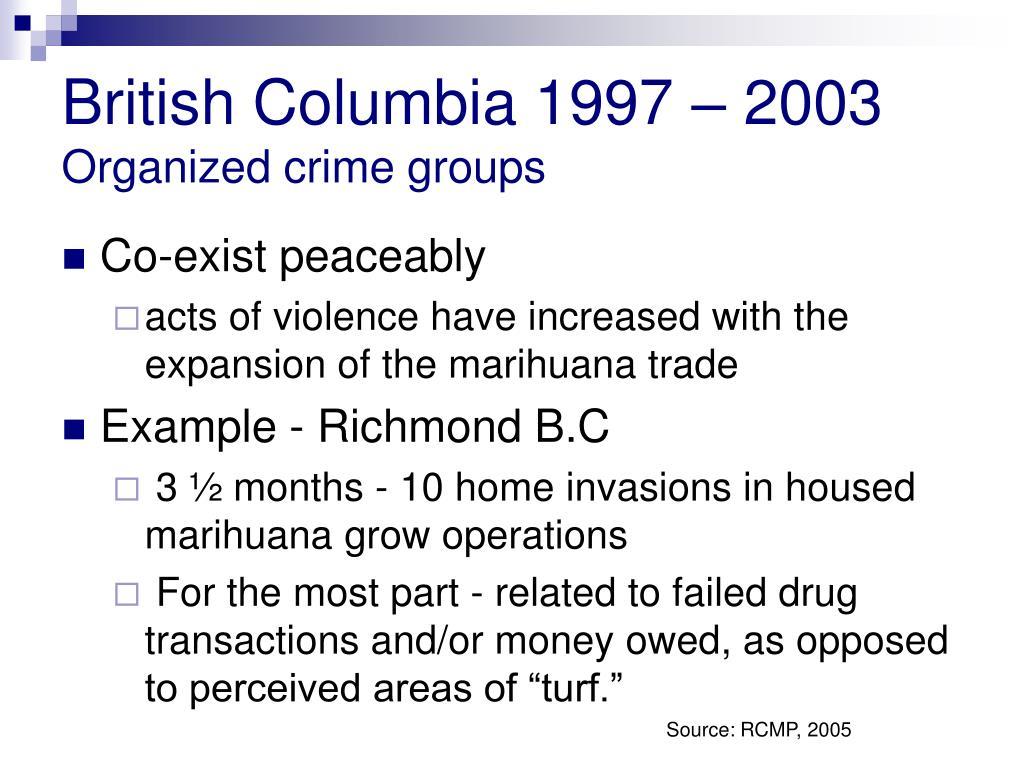 British Columbia 1997 – 2003