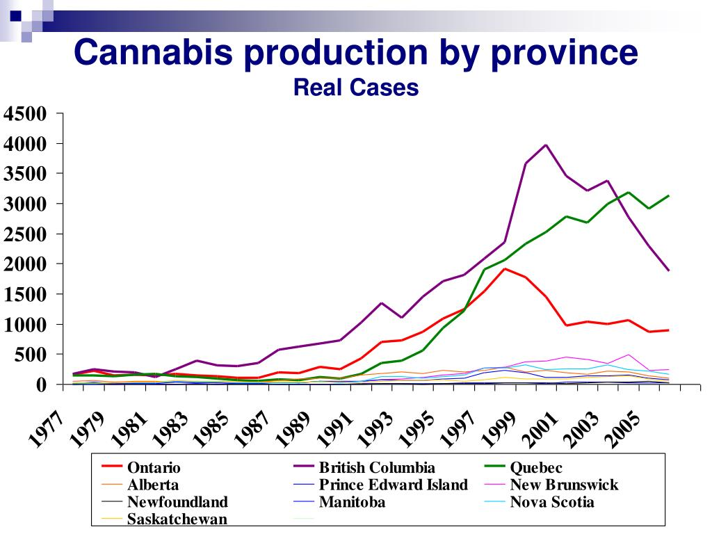 Cannabis production by province