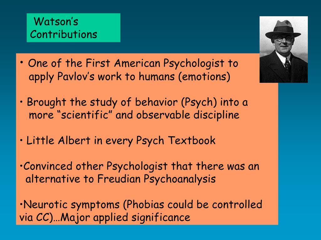 Watson's Contributions