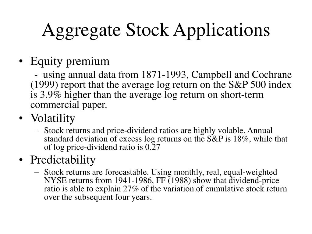 Aggregate Stock Applications