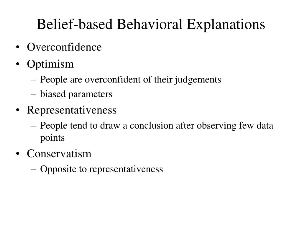 Belief-based Behavioral Explanations