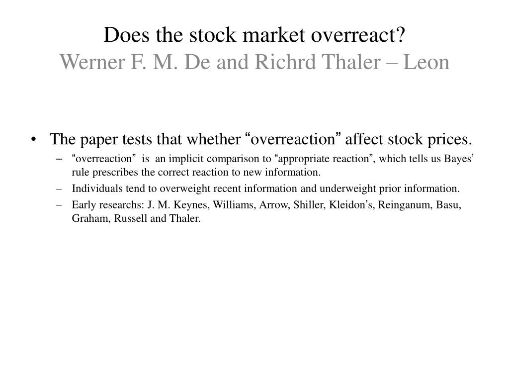 Does the stock market overreact?