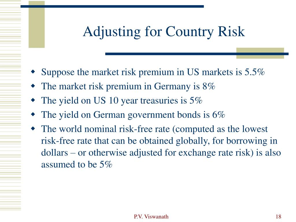 Adjusting for Country Risk