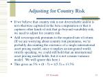 adjusting for country risk21