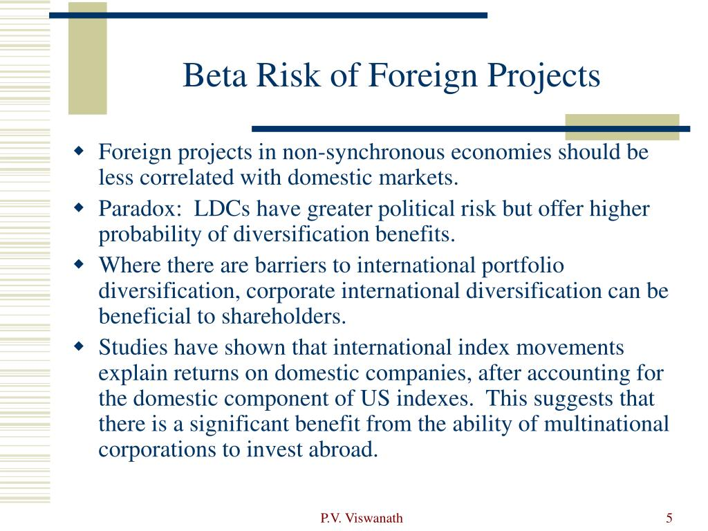 Beta Risk of Foreign Projects
