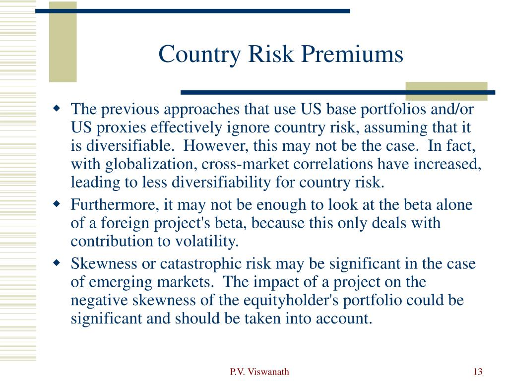 Country Risk Premiums