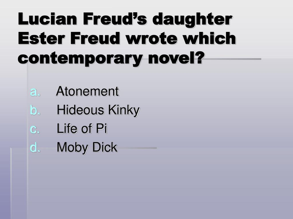 Lucian Freud's daughter Ester Freud wrote which contemporary novel?