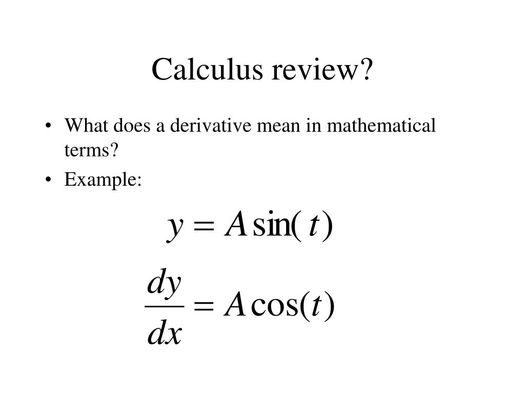 Calculus review?