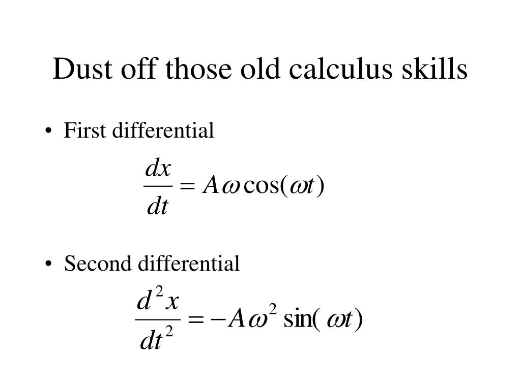 Dust off those old calculus skills