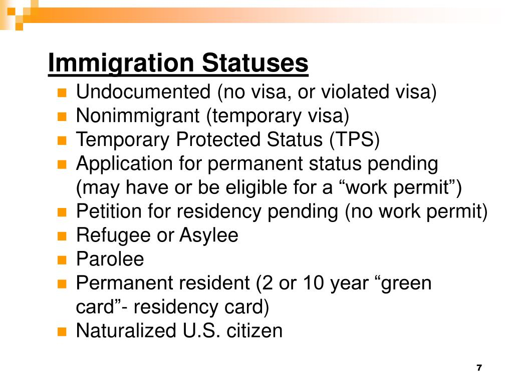 Immigration Statuses