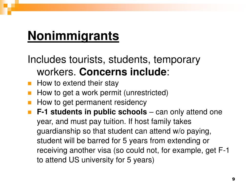 Nonimmigrants