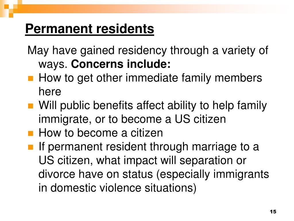 Permanent residents