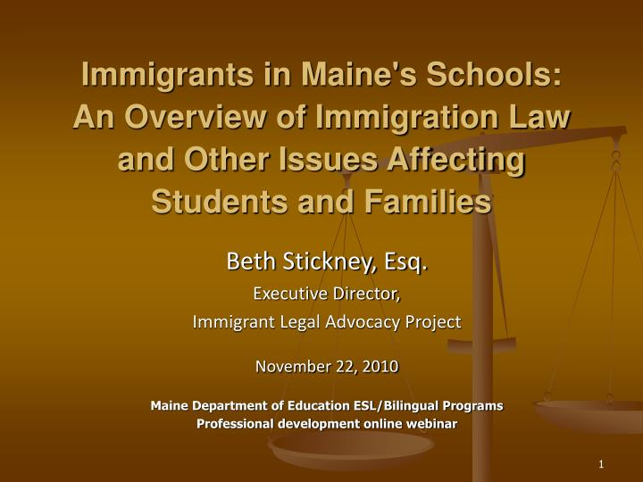Immigrants in Maine's Schools: