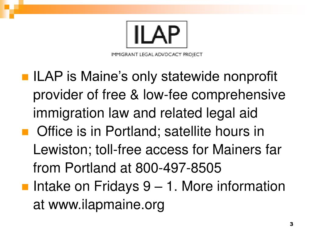 ILAP is Maine's only statewide nonprofit