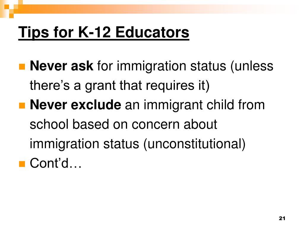 Tips for K-12 Educators