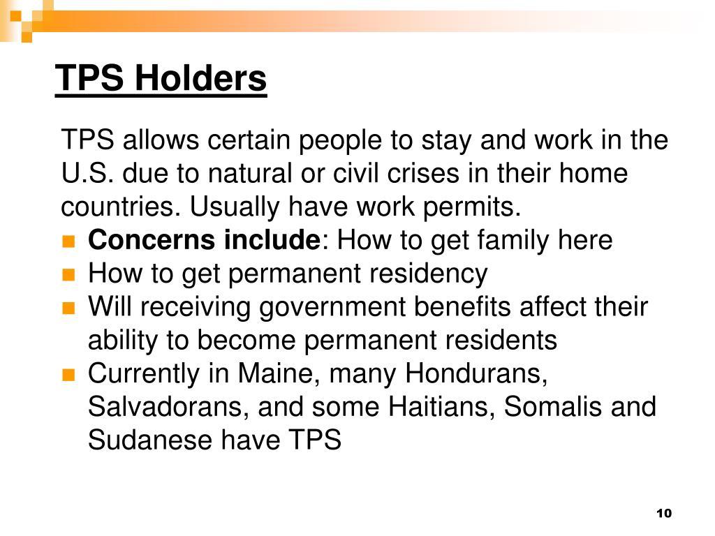 TPS Holders