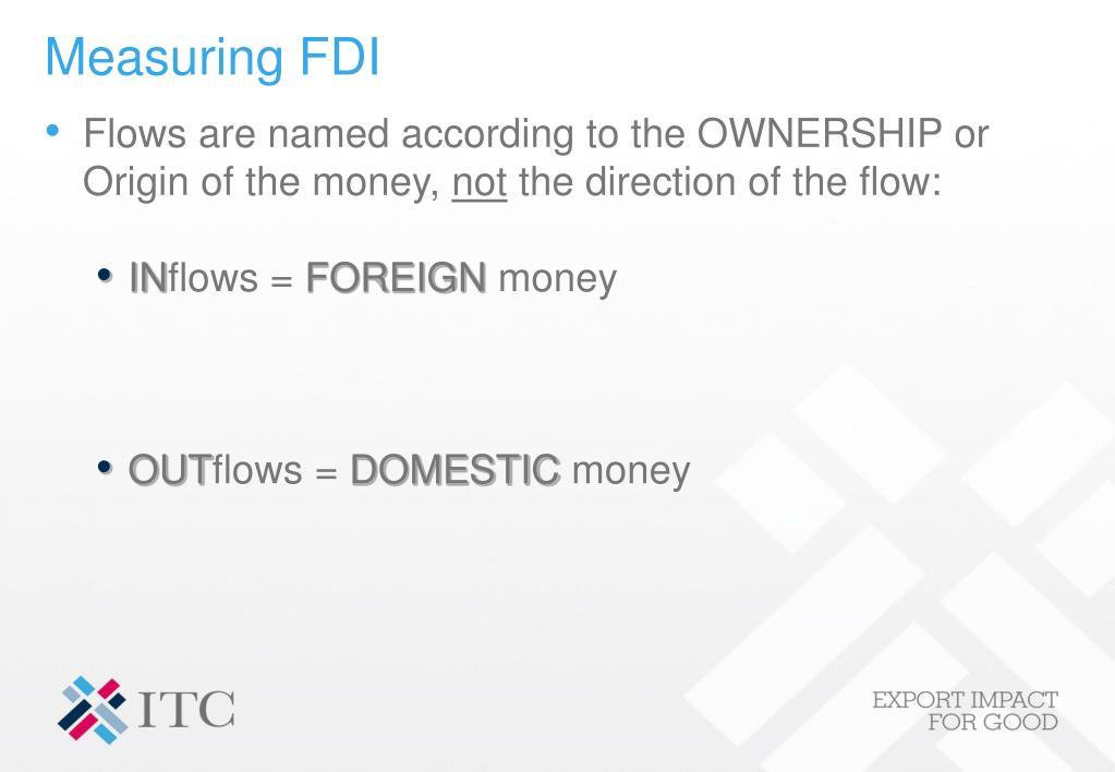 Measuring FDI