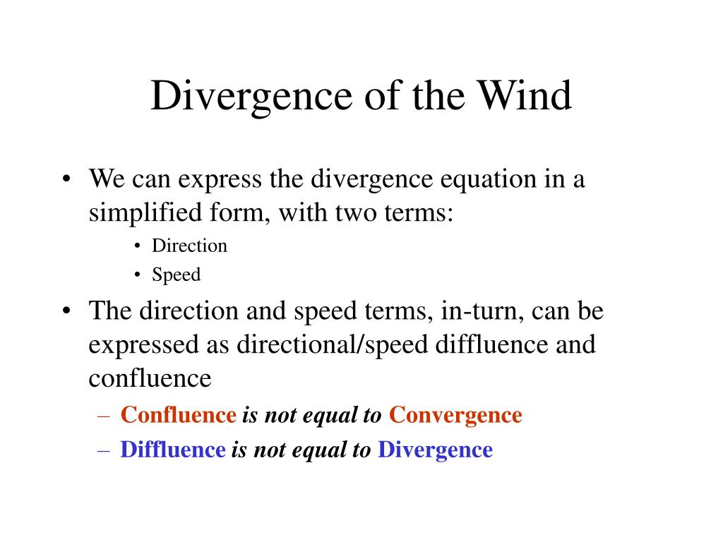 Divergence of the Wind
