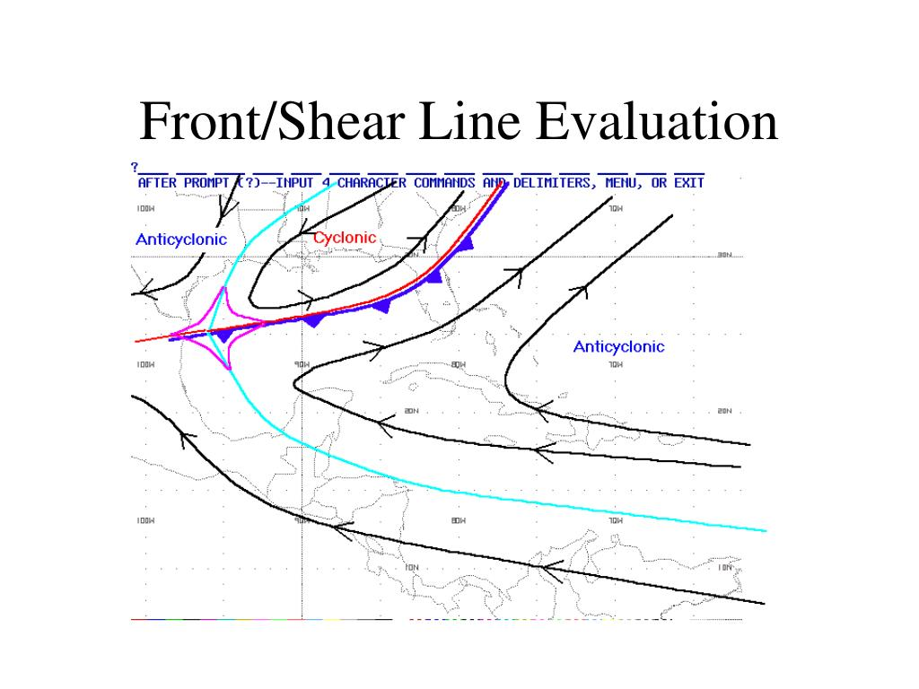 Front/Shear Line Evaluation