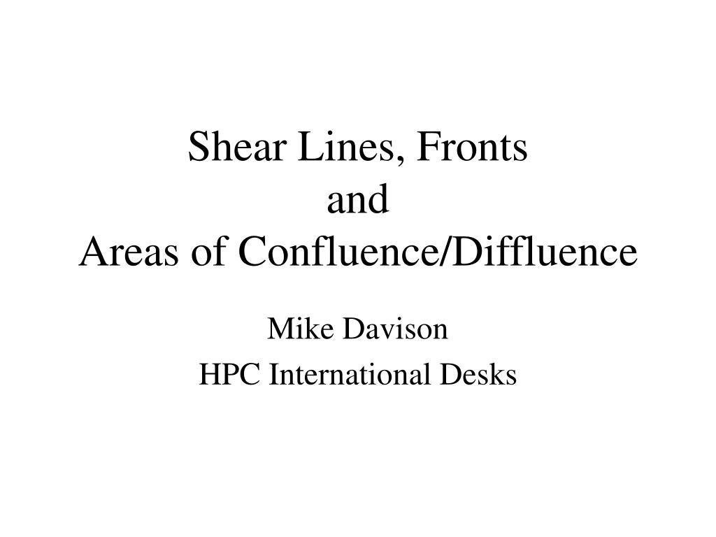 Shear Lines, Fronts