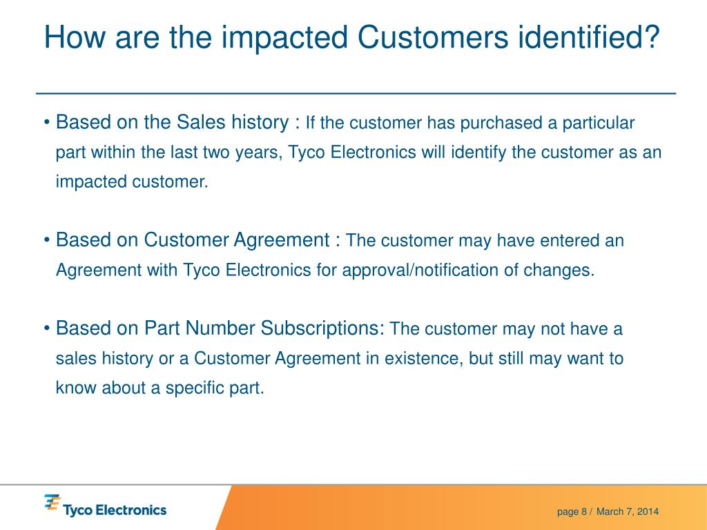 How are the impacted Customers identified?