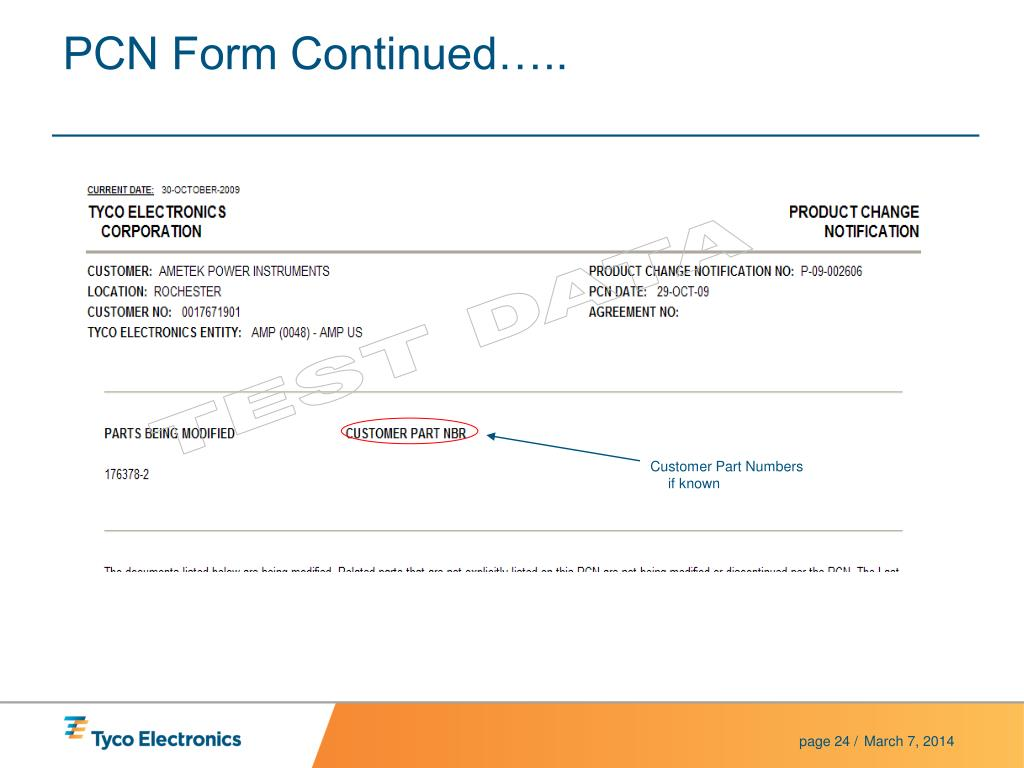 PCN Form Continued…..