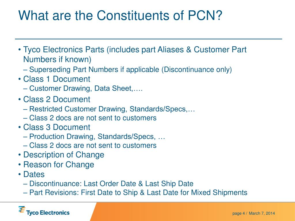 What are the Constituents of PCN?