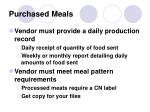 purchased meals