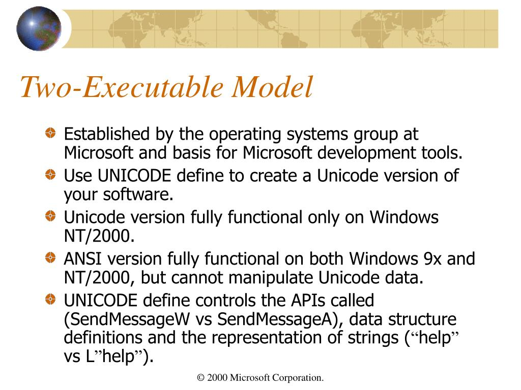 Two-Executable Model