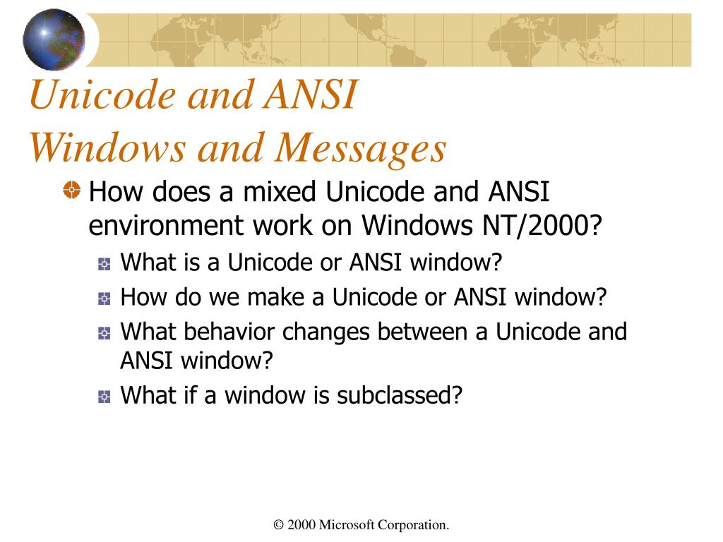 Unicode and ANSI