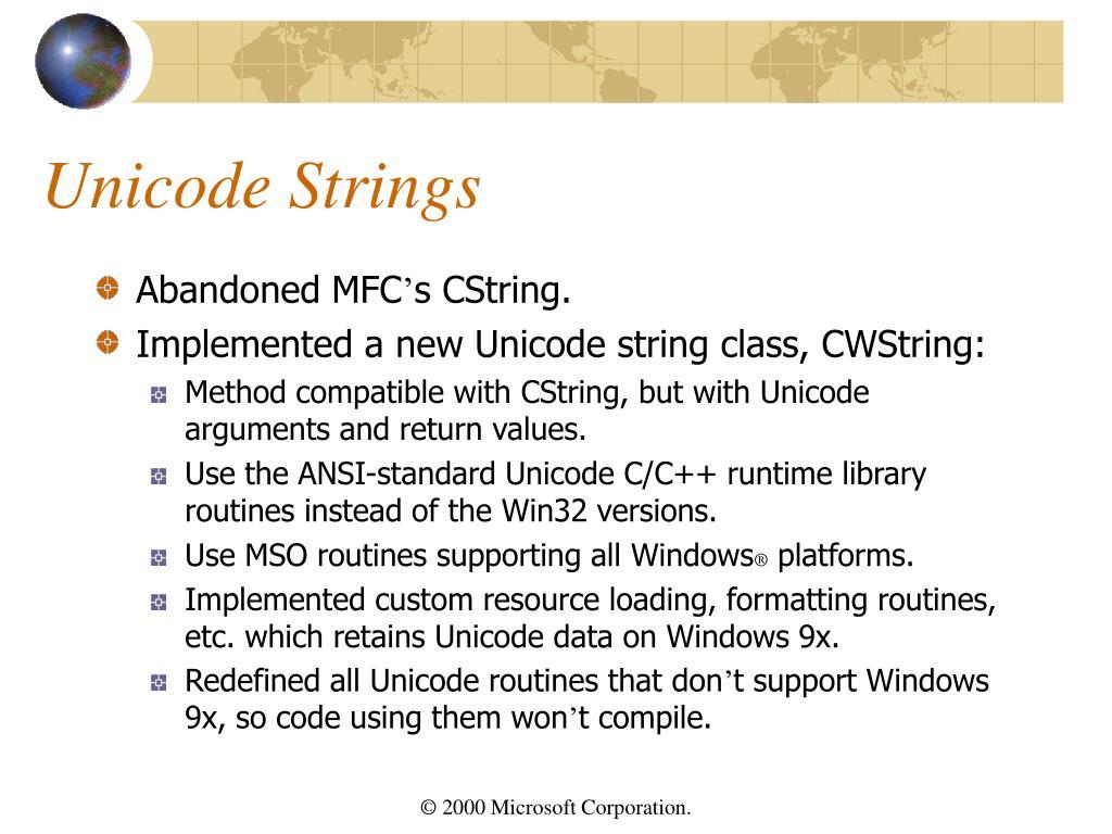 Unicode Strings