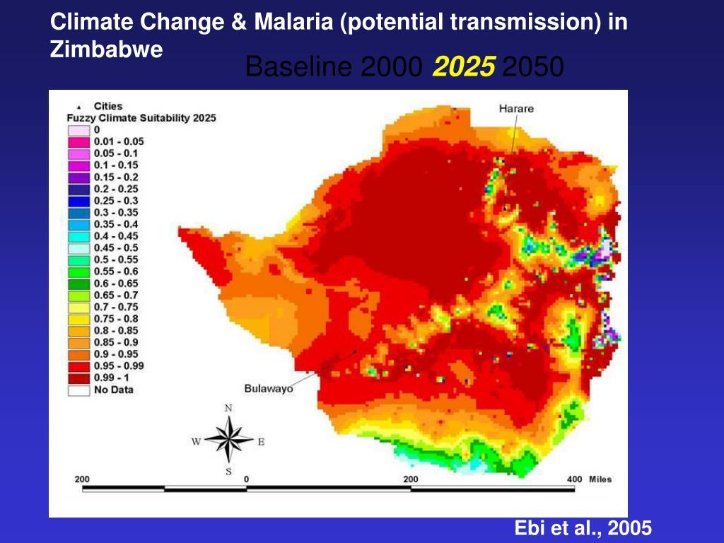 Climate Change & Malaria (potential transmission) in Zimbabwe