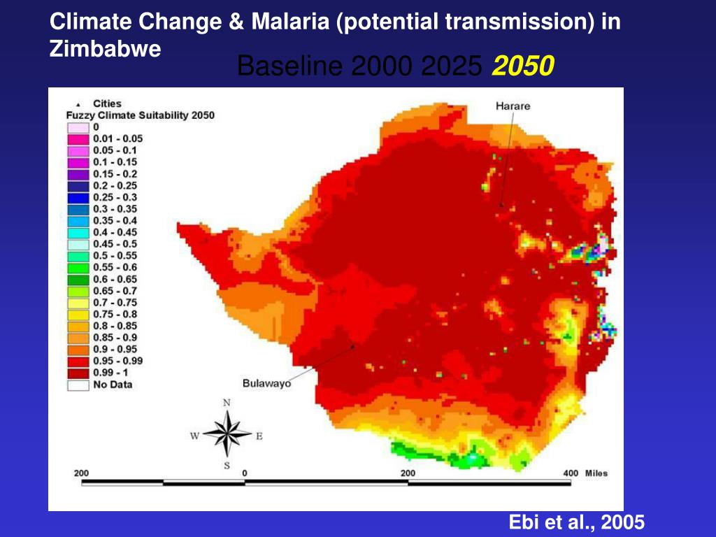 Climate Change & Malaria (potential transmission) in Zimbabwe
