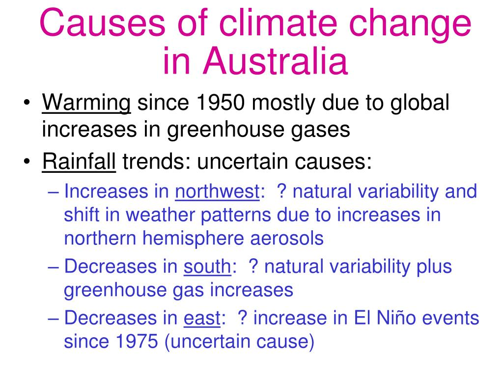 Causes of climate change in Australia