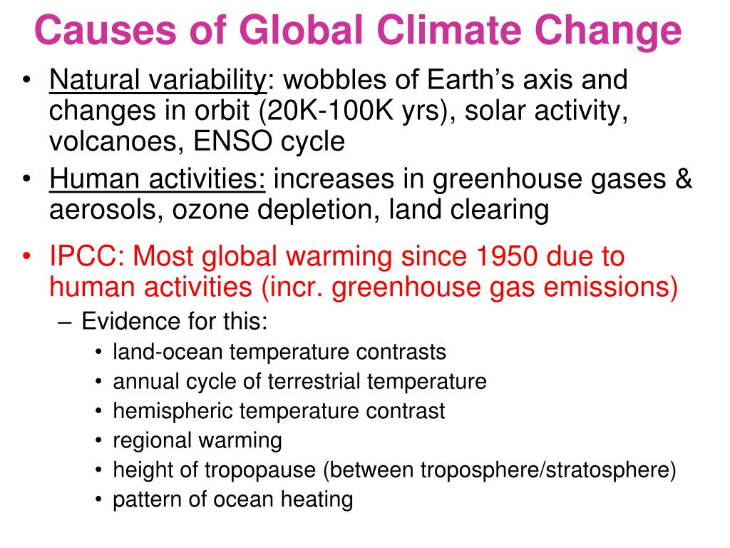 Causes of Global Climate Change