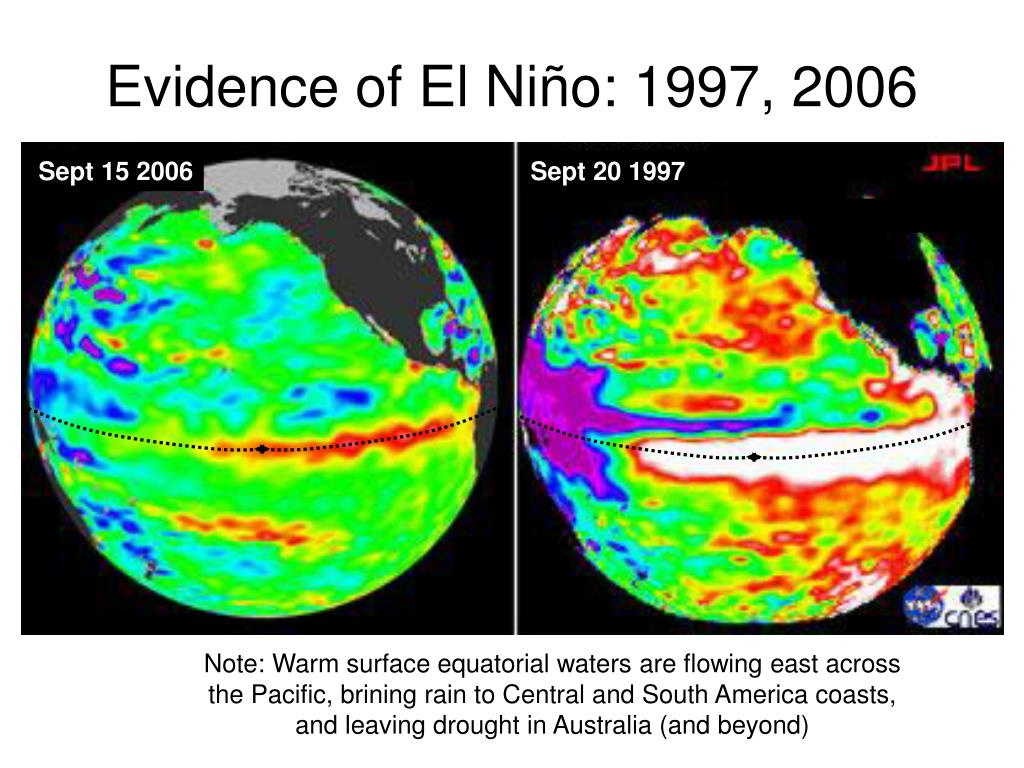 Evidence of El Niño: 1997, 2006