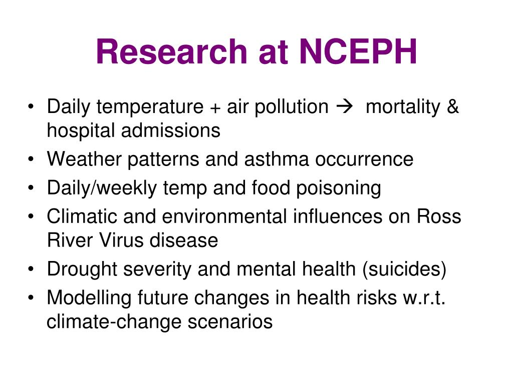 Research at NCEPH