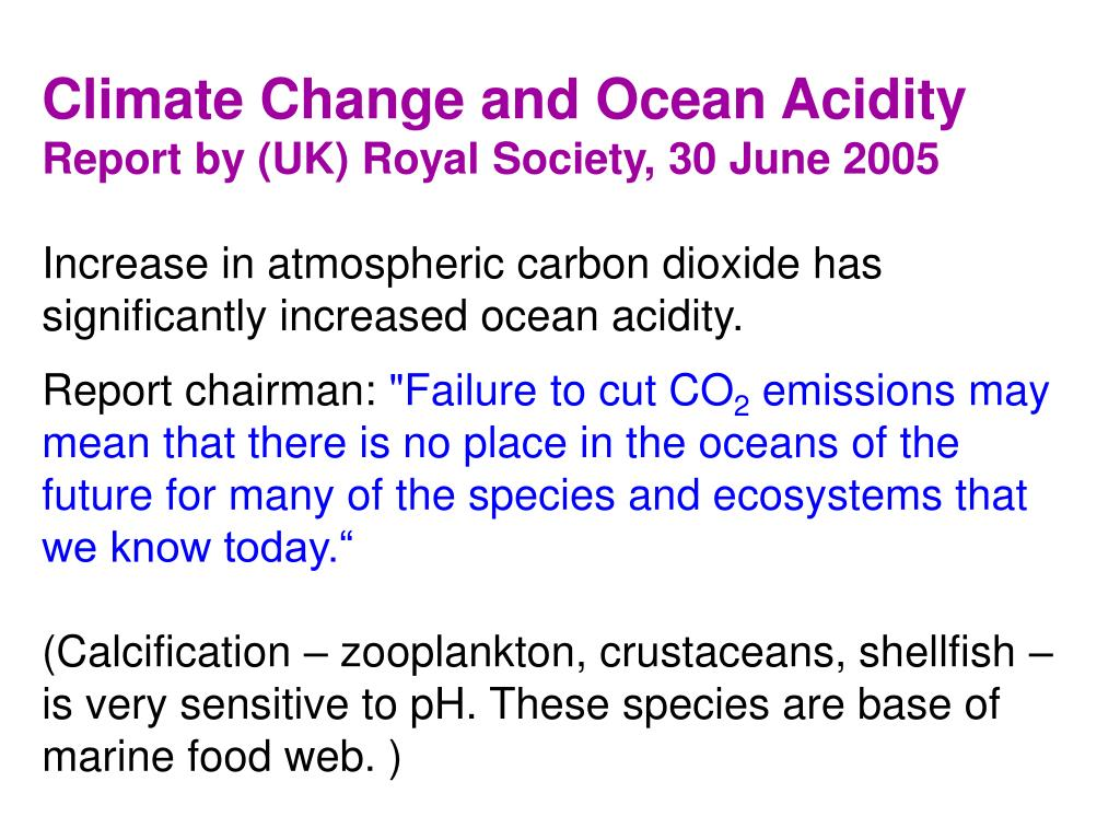 Climate Change and Ocean Acidity